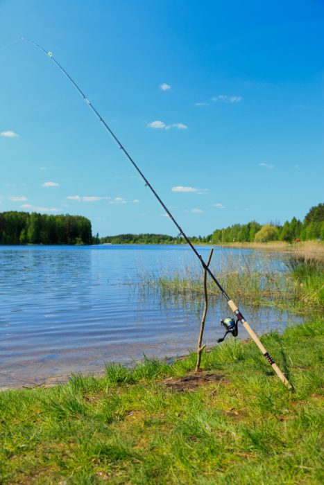 Find your own fishing spot on the lake