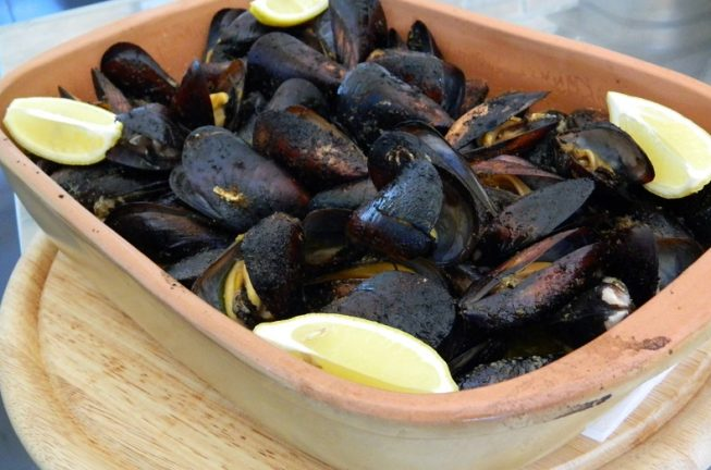 Mussels from a bread oven