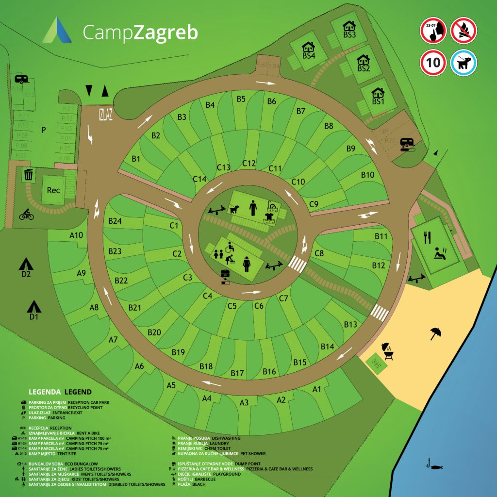 Plan Of The Camp Campzagreb