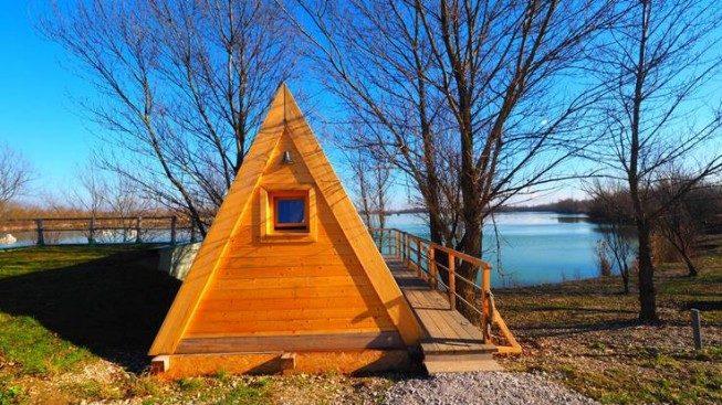 Glamping šator na jezeru